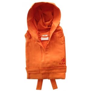 Accappatoio Microfibra Arancione Unisex