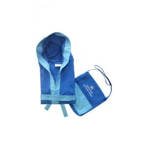 Accappatoio Microfibra Blu Royal e Azzurro Unisex