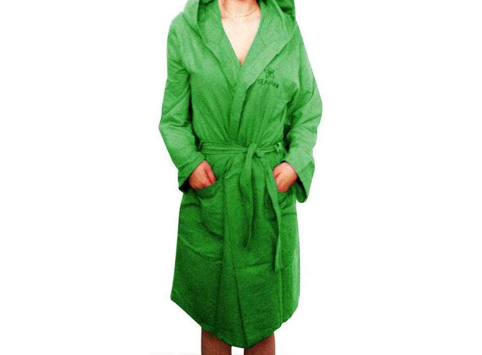 Accappatoio Microfibra Verde Unisex uomo donna