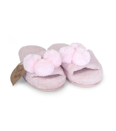 Coppia Ciabatte PonPons Cipria Lovely Shabby