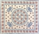 Copritutto Copridivano Etnico Elefanti e Margherite Bordeaux Sabbiato 100% Cotone 210x230cm Senza Frange