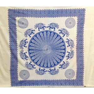 Copritutto Grande Circular Elephant Bianco-Blu
