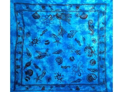 Copritutto Grande Conchiglie Azzurro