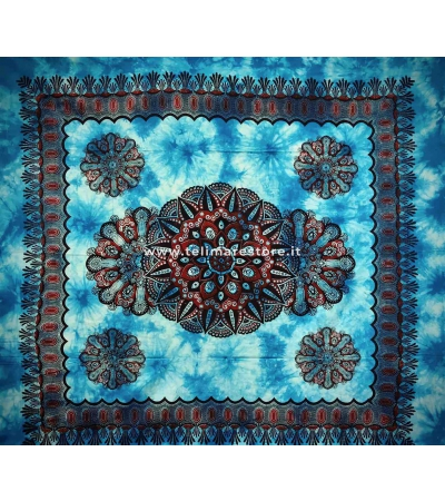 Copritutto Grande Crochet Azzurro