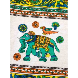 Copritutto Grande Elefante Giallo Multicolor