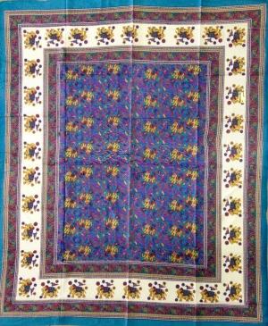 Copritutto Grande Elefante Turchese Multicolor