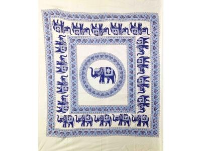 Copritutto Grande Elefanti Bianco Blu