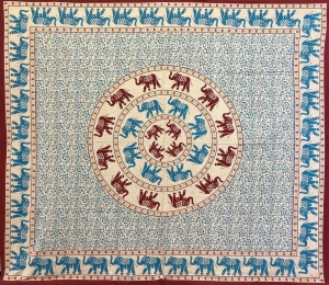 Copritutto Grande Elefanti Circolari Azzurri Sabbiato