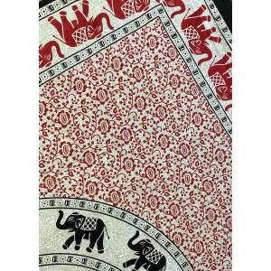 Copritutto Grande Elefanti Circolari Rossi Sabbiato