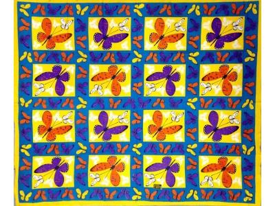 Copritutto Grande Farfalle Giallo Turchese