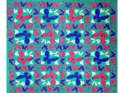 Copritutto Grande Farfalle Verde Grigio