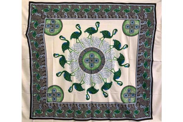Copritutto Grande Fenicotteri Verde-Royal