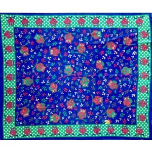 Copritutto Grande Gufi Blu Multicolor