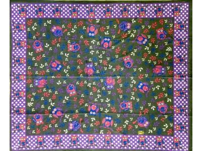 Copritutto Grande Gufi Grigio Multicolor