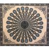 Copritutto Grande Mandala Nero Azzurro Sabbiato