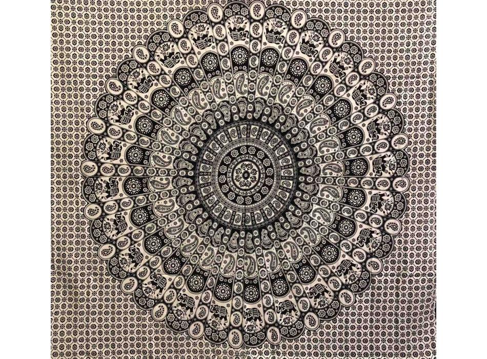 Copritutto Grande Mandala Nero Sabbiato
