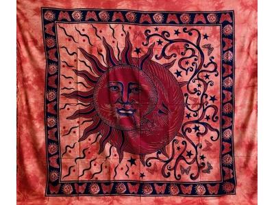 Copritutto Grande Sole Luna Arancione