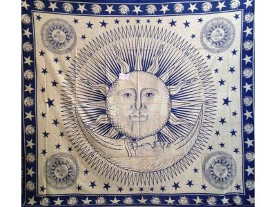 Copritutto Grande Sole Luna Blu Sabbiato