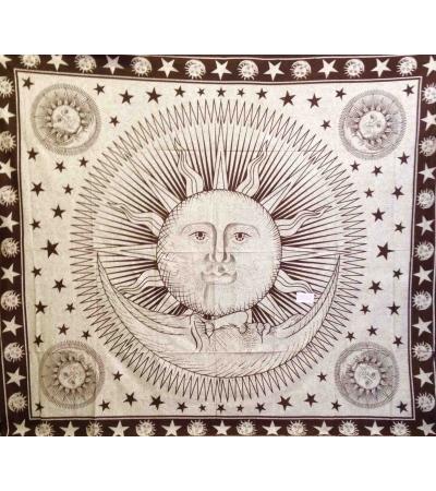 Copritutto Grande Sole Luna Marrone Sabbiato