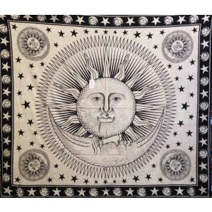 Copritutto Grande Sole Luna Nero Sabbiato