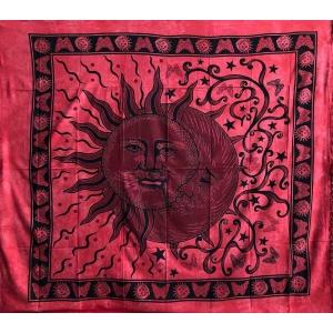 Copritutto Grande Sole Luna Rosso
