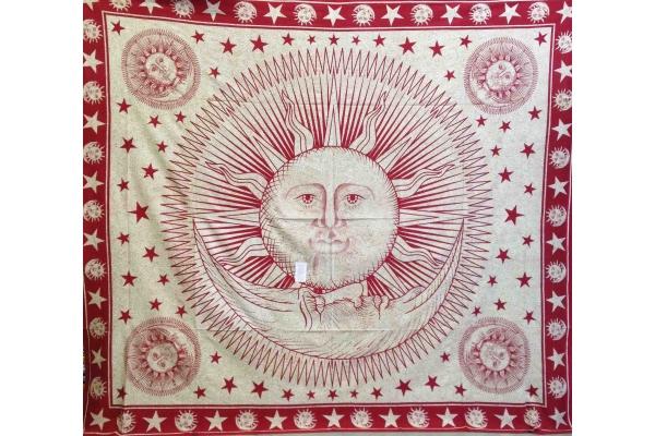 Copritutto Grande Sole Luna Rosso Sabbiato