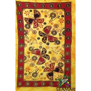 Copritutto Medio Butterfly Giallo-Rosso Stampato