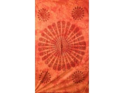 Copritutto Medio Piume di Pavone Arancione