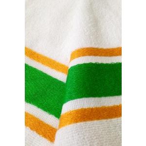Fouta Cotone Spugna Bianco Giallo Verde