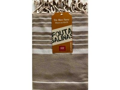 Fouta Cotone Spugna Salinas Sabbia