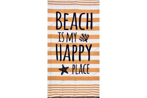 Fouta Happy Place Arancione