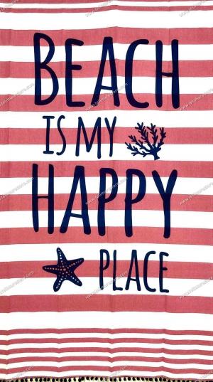 Fouta Happy Place Corallo