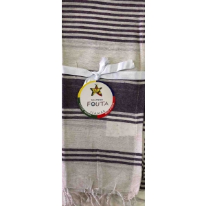Fouta Pareo Multy Righe Viola