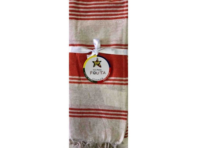 Fouta Pareo Multy Righe Arancione
