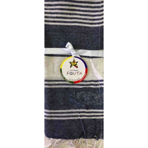 Fouta Pareo Multy Righe Blu