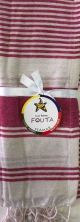 Fouta Pareo Multy Righe Fucsia