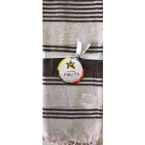Fouta Pareo Multy Righe Marrone