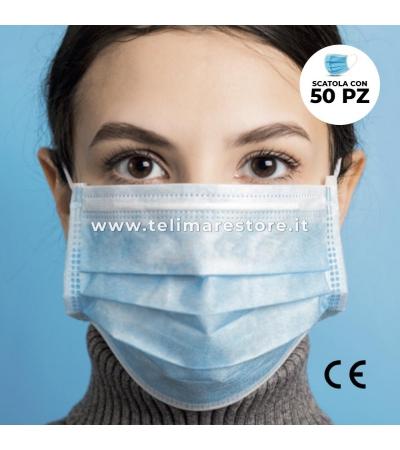 Mascherine Chirurgiche Medicali Mono Uso Confezione da 50 Pezzi