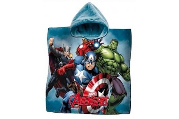 Poncho Stampato Avengers Blu