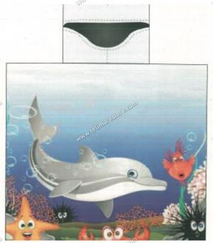 Poncho Stampato Delfino