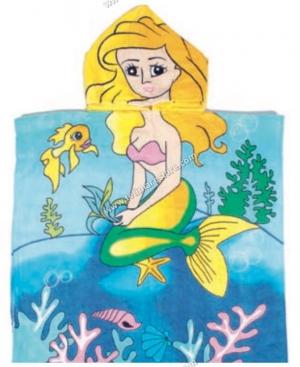 Poncho Stampato Sirena