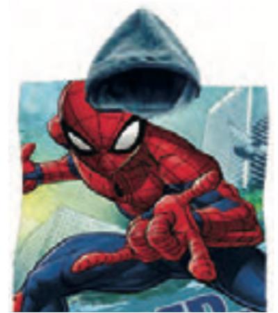 Poncho Stampato Spiderman
