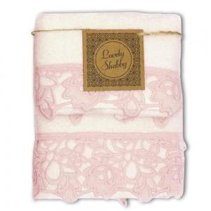 Set Asciugamani Bagno 100% Cotone Modello Kira Avorio-Cipria 1+1