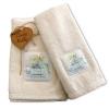Set Asciugamani Bagno 100% Cotone Modello Parfum Avorio 1+1