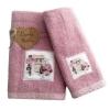 Set Asciugamani Bagno 100% Cotone Modello Parfum Rosa 1+1