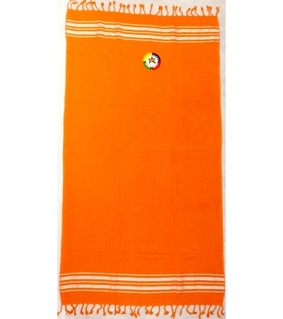 Telo Fouta Cotone Spugna Arancione