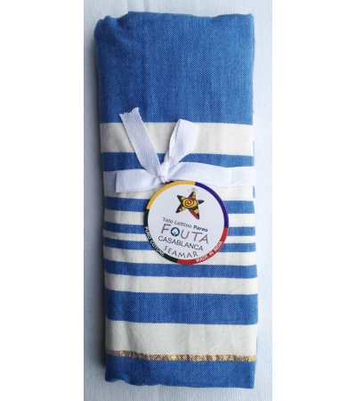 Telo Fouta Lettino cotone Blu royal