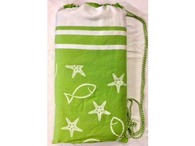 Telo Fouta Lettino Fishy Lime