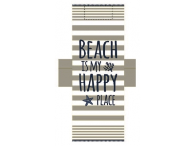 Telo Fouta Lettino Happy Place Sabbia