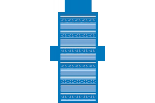 Telo Lettino Ancora Blu Royal